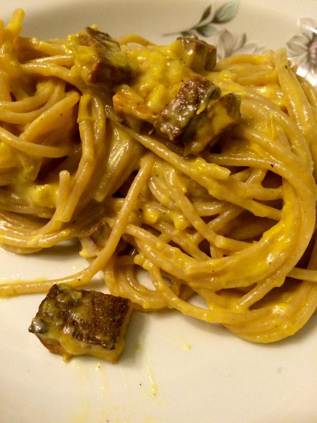 Pasta alla Carbonara Vegana