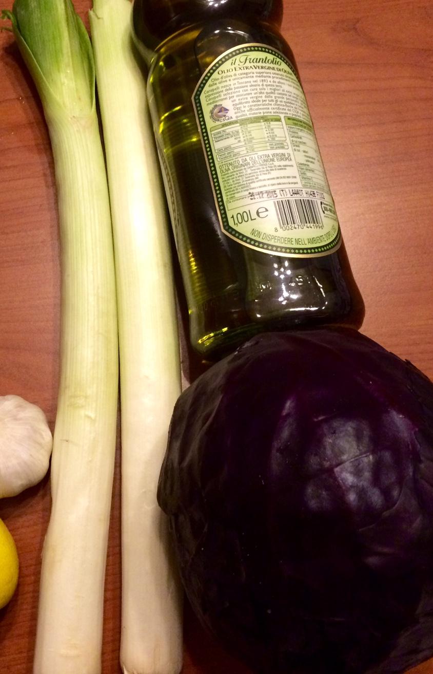 cavolo rosso e porri in padella | ricette e prodotti per vegani - Come Cucinare I Porri In Padella