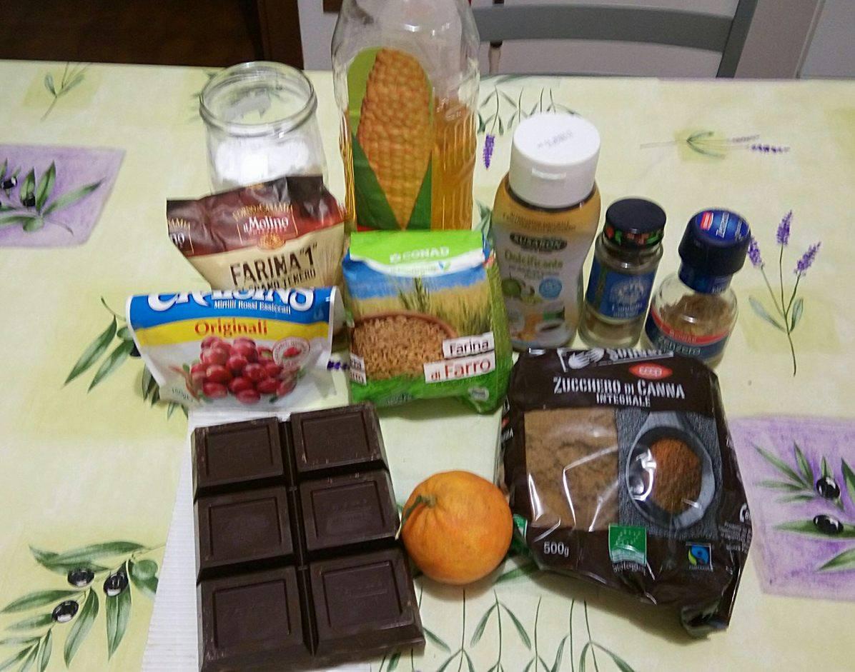 ricettevegan.org - biscotti di farro con gocce cioccolato - ingredienti