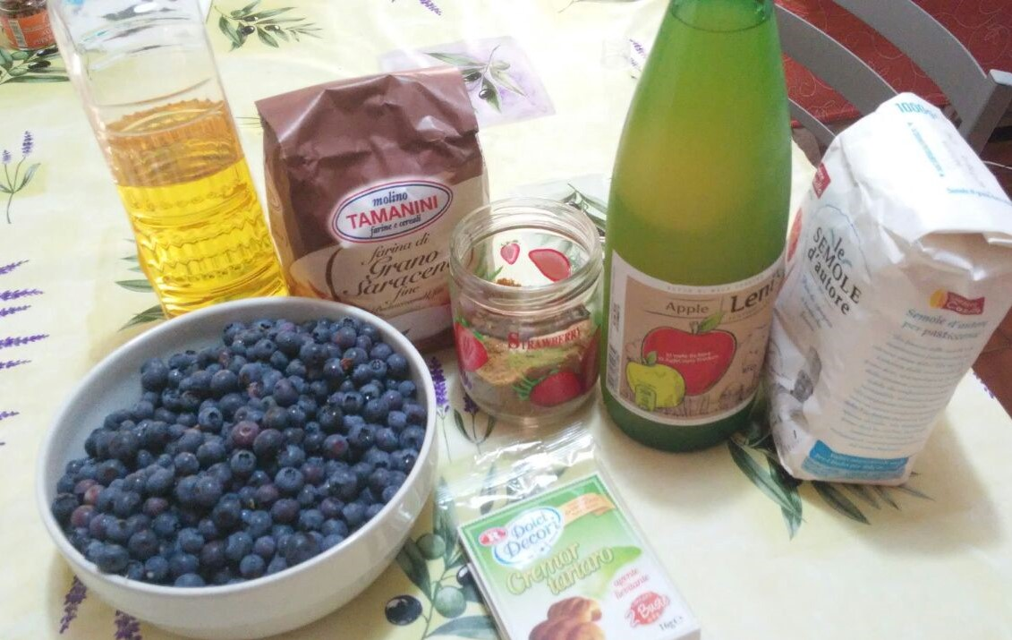 ricettevegan.org - ciambella ai mirtilli - ingredienti