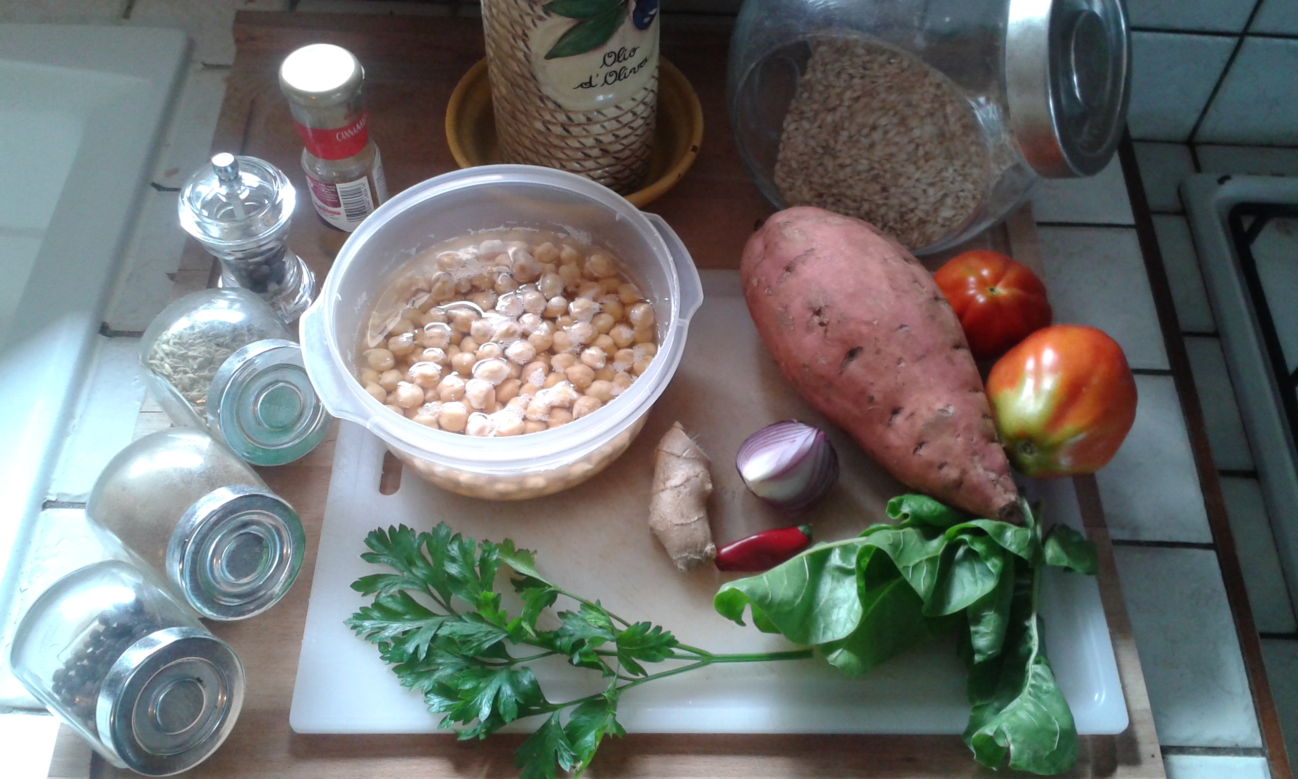 ricettevegan.org - curry di patate dolci - ingredienti