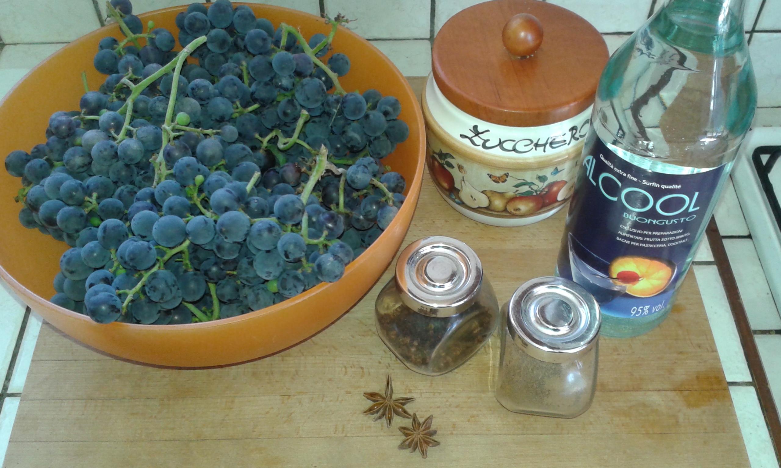 ricettevegan.org - liquore di uva fragola - ingredienti
