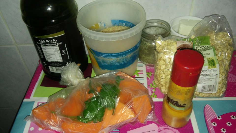 ricettevegan.org - burger quinoa e zucca - ingredienti