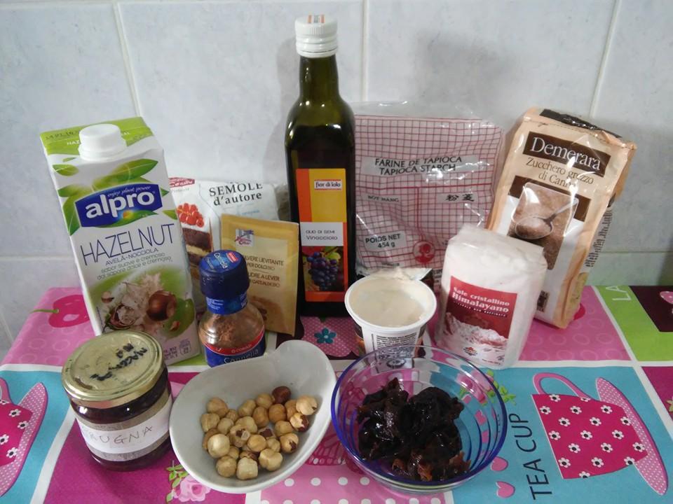 ricettevegan.org - ciambella di prugne secche - ingredienti