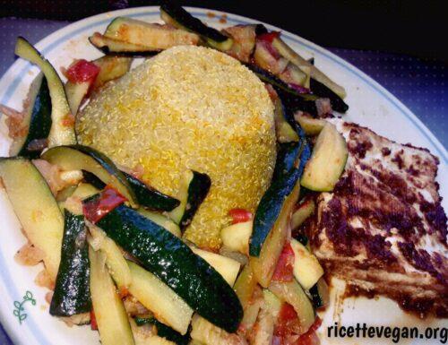 Cupola di Quinoa e Zucchine con Tofu