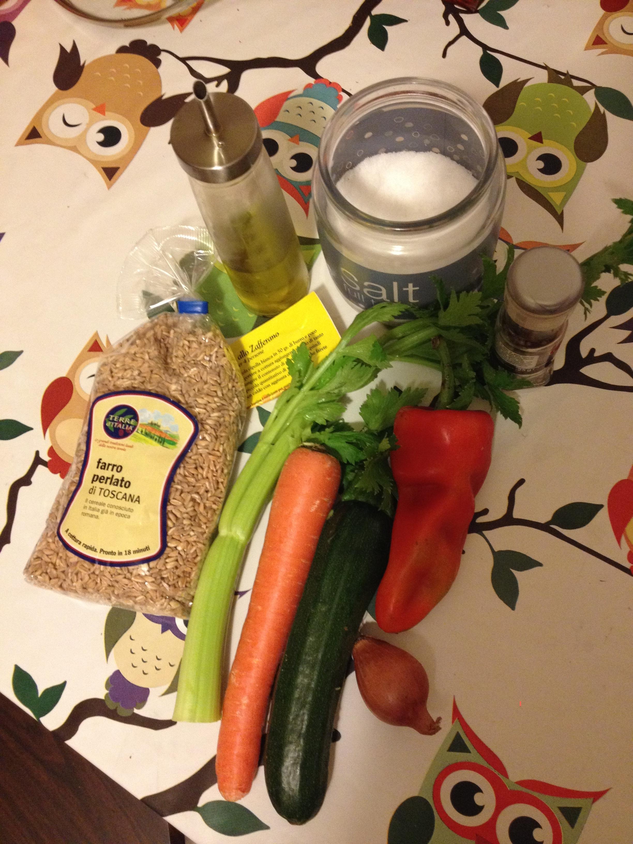 ricettevegan.org - farro con verdure e zafferano 1