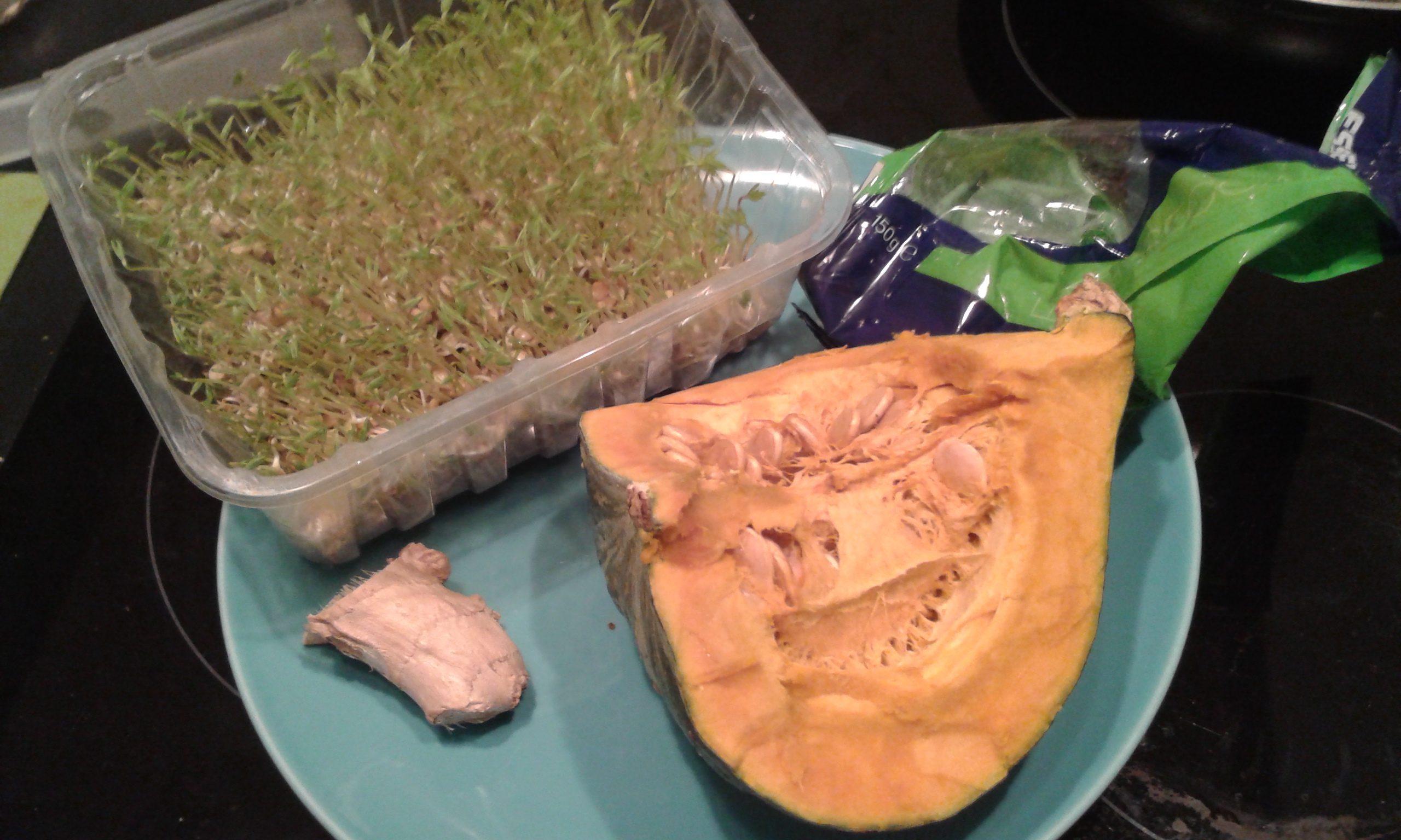 ricettevegan.org - germogli e zucca - ingredienti