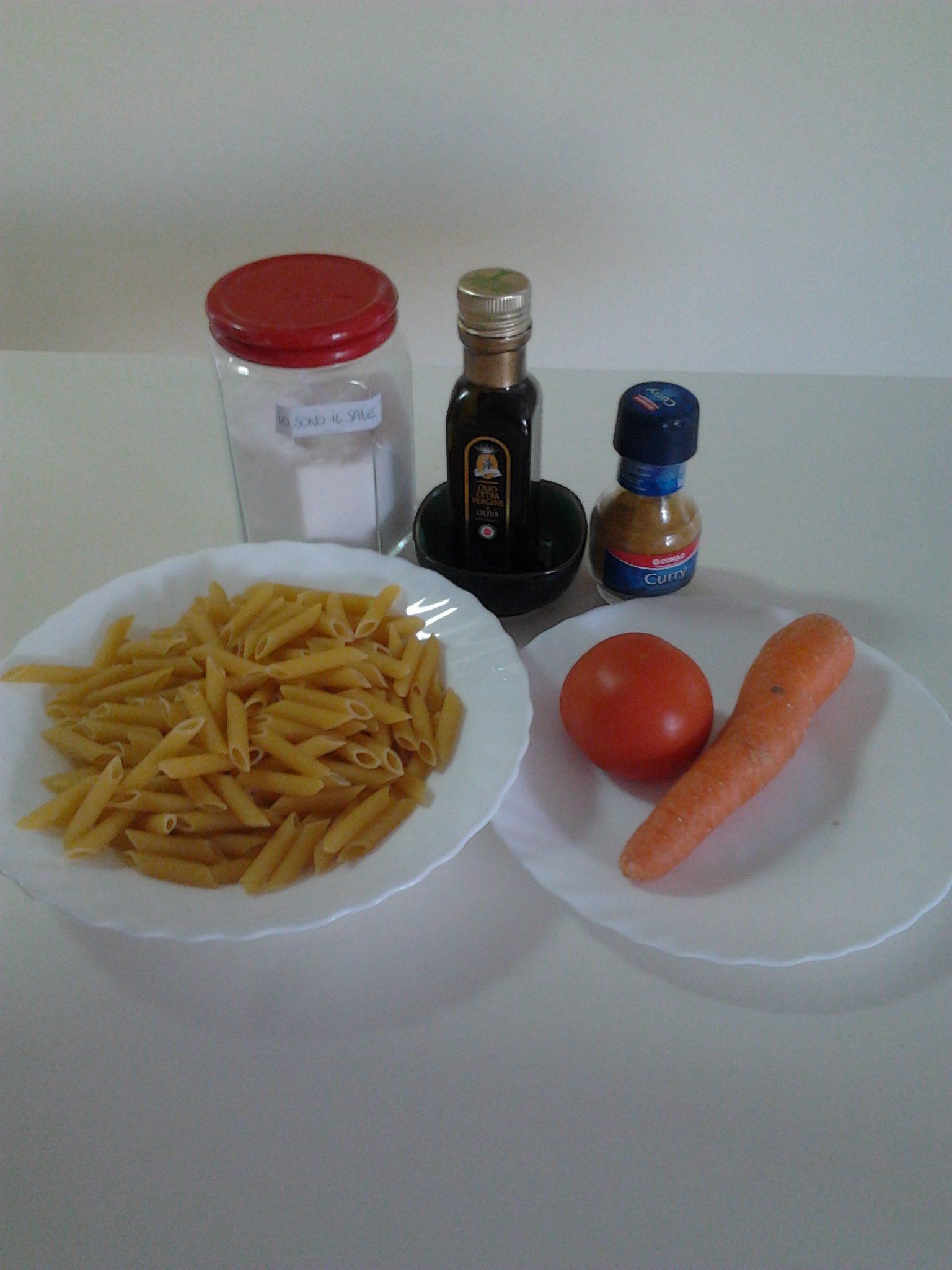 ricettevegan.org - pasta carote pomodoro e  curry 1