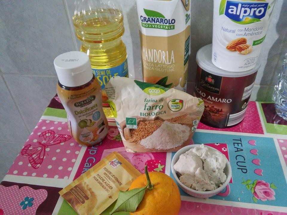 ricettevegan.org - plumcake di okara di mandorle - ingredienti