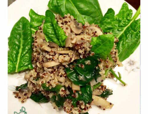 Quinoa con Spinaci e Funghi