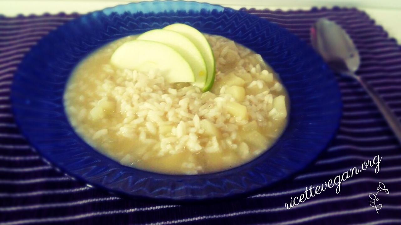 risotto alla mela verde