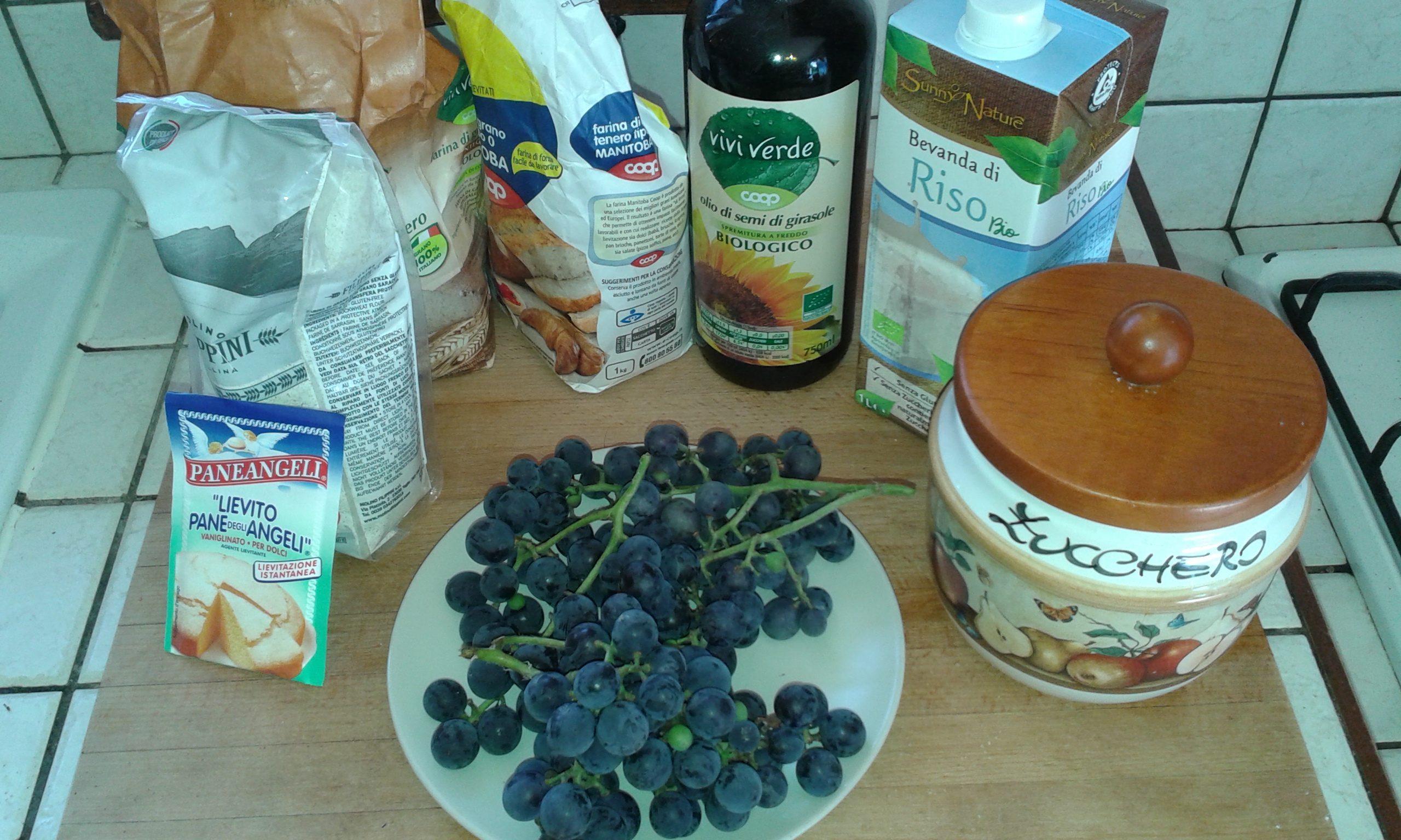 ricettevegan.org - torta di uva fragola - ingredienti