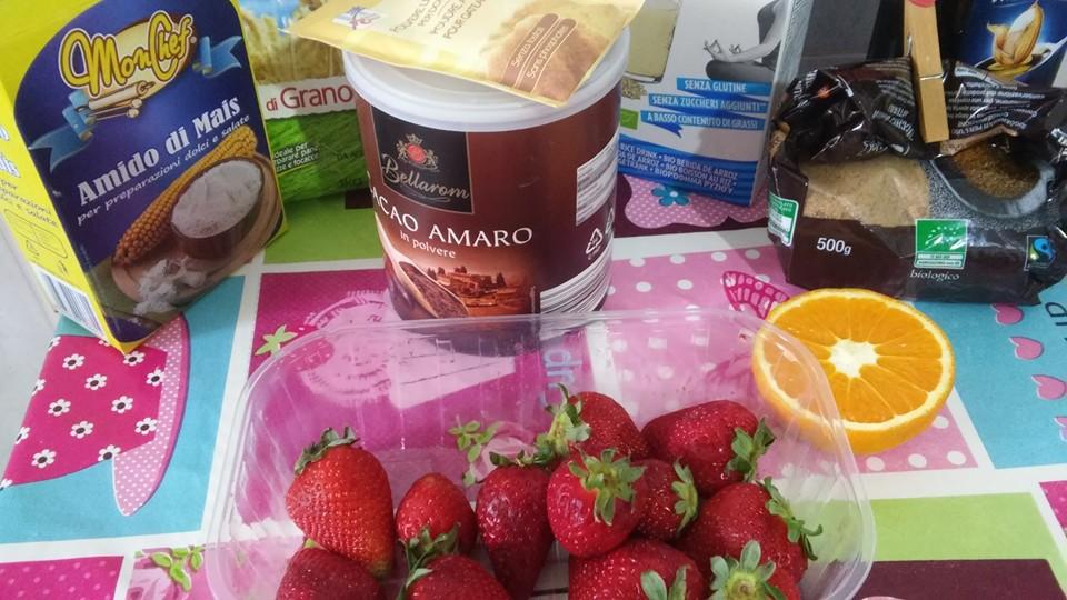 ricettevegan.org - torta fragole e cacao - ingredienti