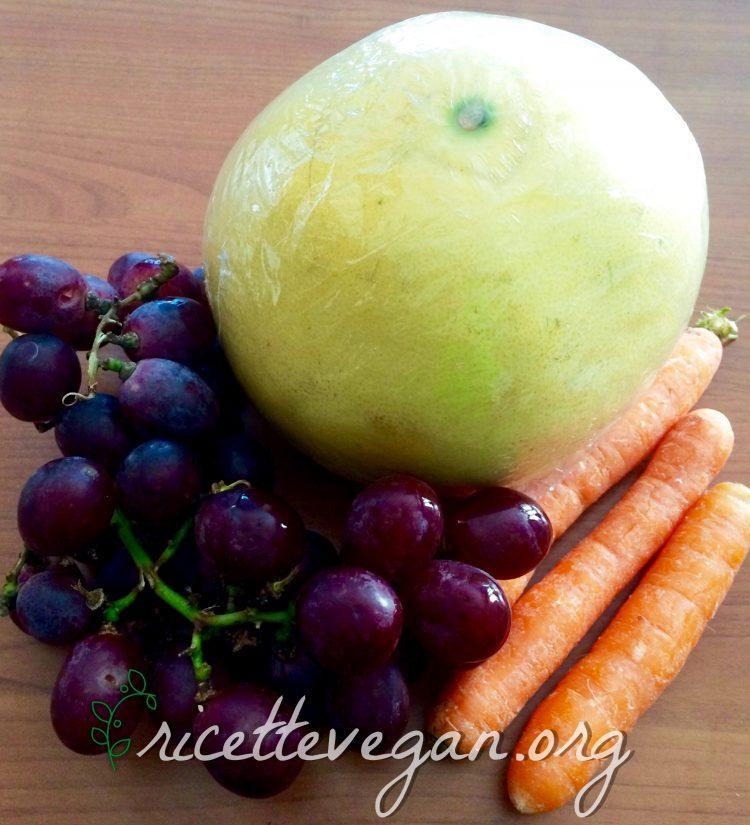 succo di pomelo uva e carote