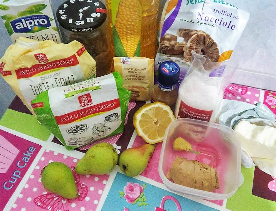 ricettevegan.org - muffins integrali alle pere -ingredienti