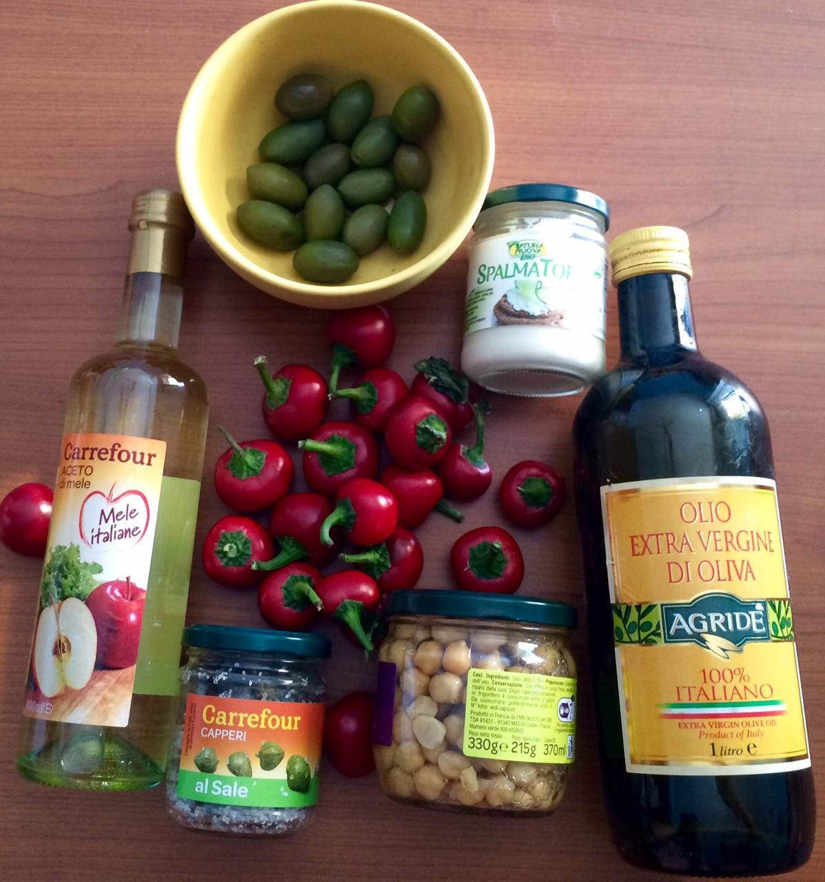 ricettevegan.org - peperoncini ripieni vegani - ingredienti