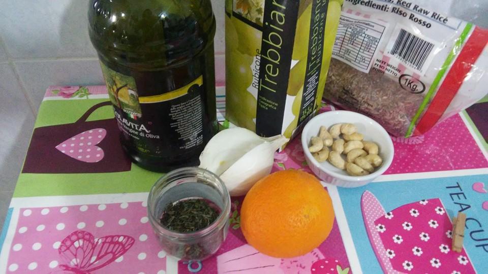 ricettevegan.org - risotto arancia - ingredienti