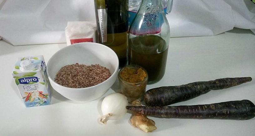 ricettevegan.org - risotto rosso con carote viola - ingredienti