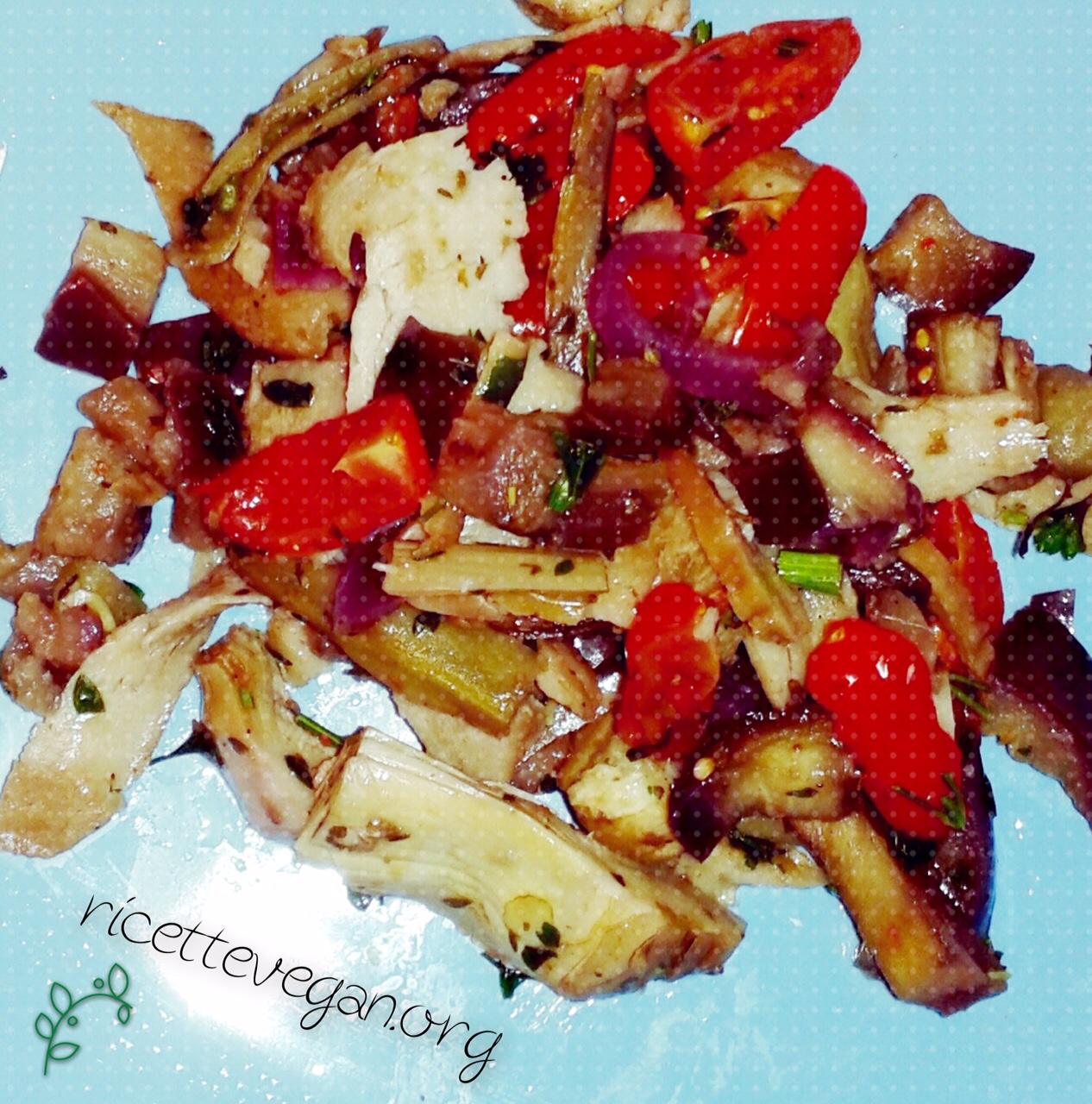 seitan saltato alle verdure