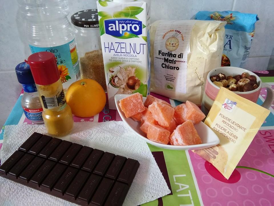 ricettevegan.org - torta zucca e cioccolato -ingredienti