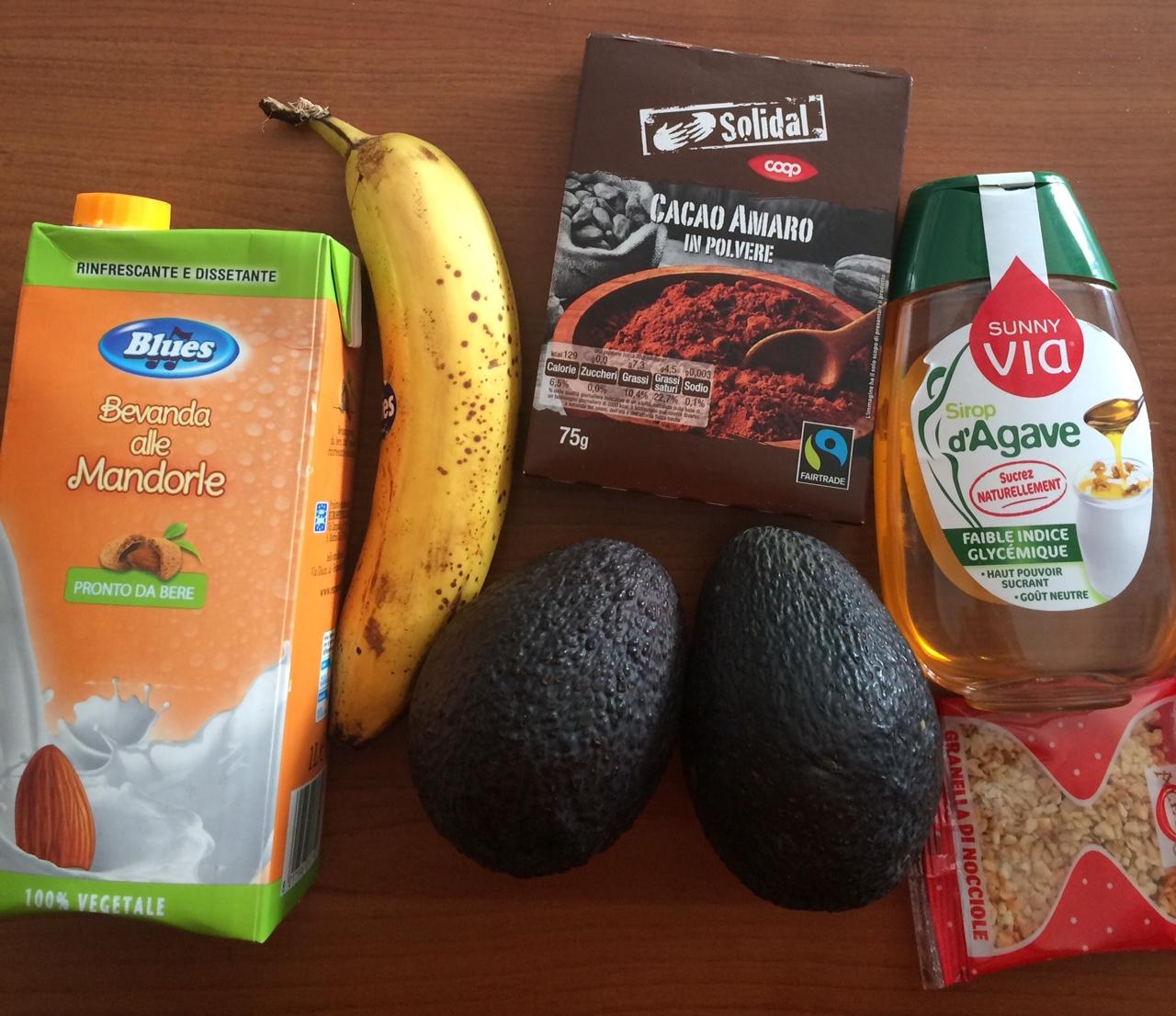 ricettevegan.org - mousse di avocado e cacao - ingredienti